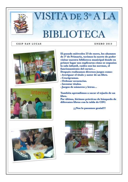 VISITA 3º BIBLIOTECA