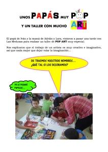 TALLER CON PADRES  POP ART-MEDUSAS