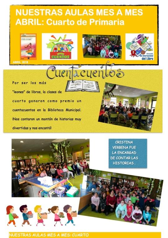 nuestras aulas CUARTO 2018